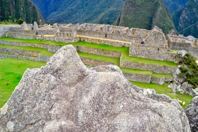 Rock found here shaped like the landscape of Machu Picchu