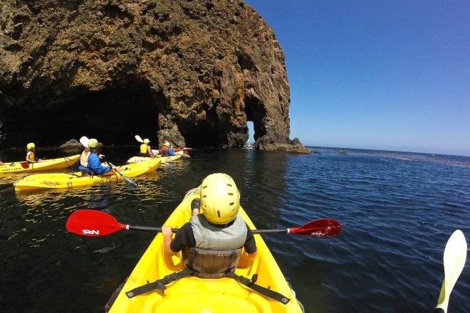 Channel Islands National Park Kayaking Around Santa Cruz